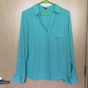 The Limited dress shirt, seafoam green